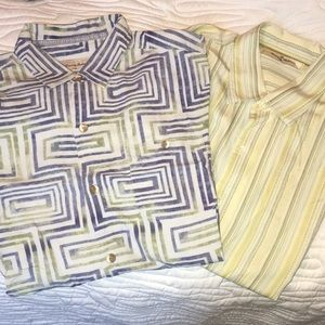 Two Tommy Bahama short sleeve shirts